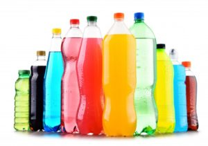 sodas and fruit juices