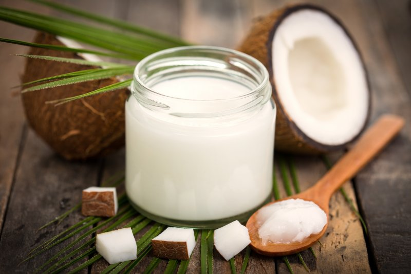 Coconut oil for remedy from dentist in Springfield